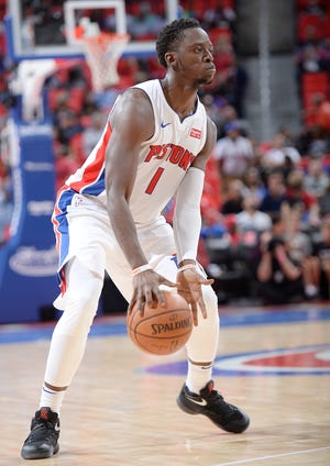 Pistons point guard Reggie Jackson returned to full-contact practice Thursday.
