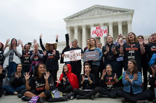 """That the #MeToomovement is also giving Biden a free pass is curious. Its mantra of""""Believe All Women"""" was appliedwithout question to the accusers of KavanaughandTrump, Finley writes."""