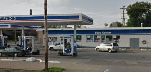 Police are investigating a shootout at the  Fenkell Ave. gas station in Detroit
