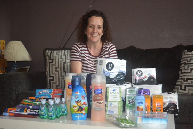Robin Ross is collecting personal healthcare products for the Hygiene Closet, a new program she has initiated at Clyde-Green Springs Schools that will provide free hygiene products to kids who need them.