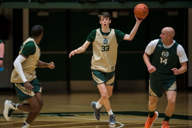 Colorado State University freshman forward Jack Schoemann (33) has announced that he'll transfer to Cal State Bakersfield.