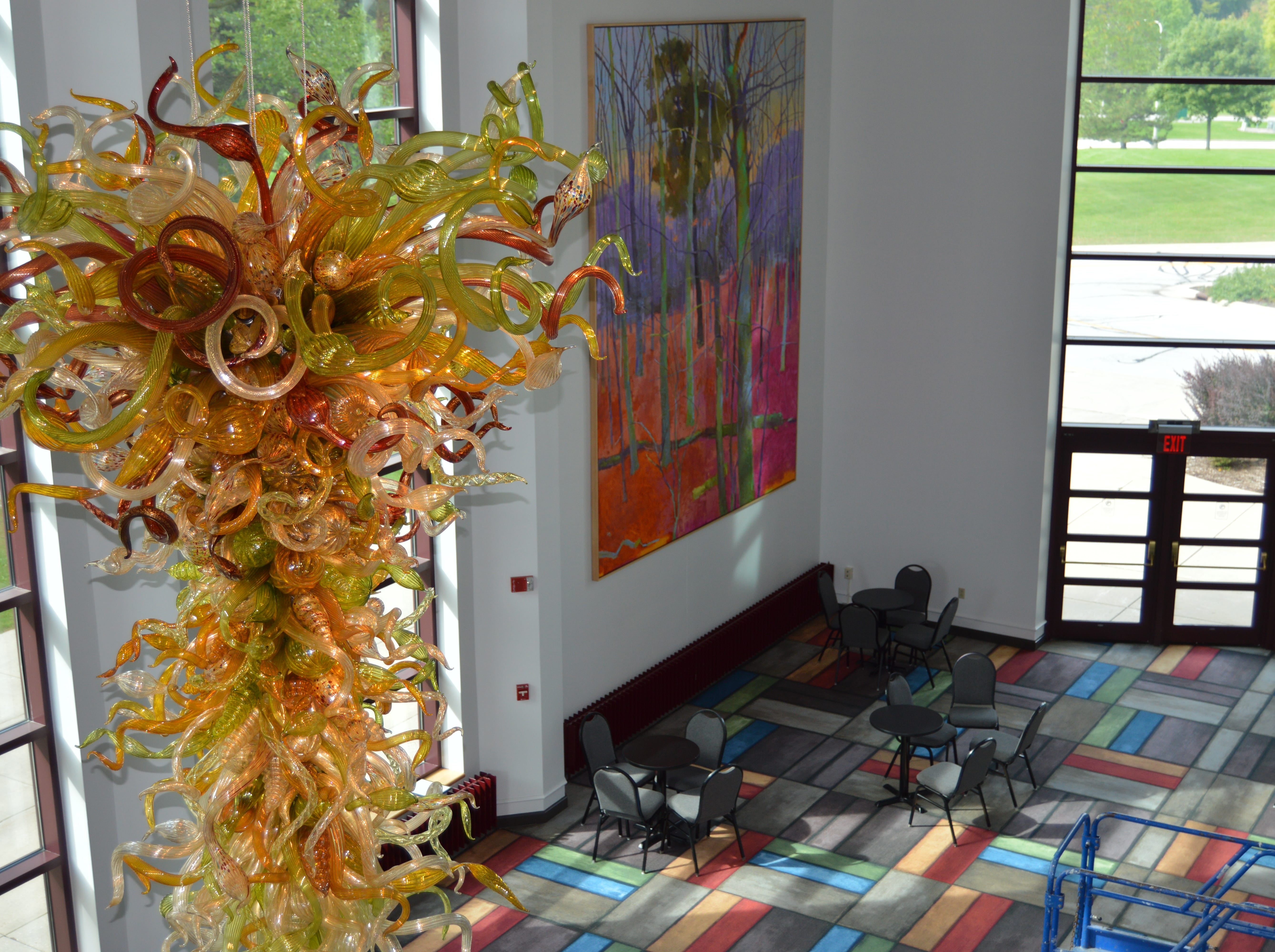 The Weidner Center lobby was remodeled in time for the 25th Anniversary Season Concert on Sept. 22.