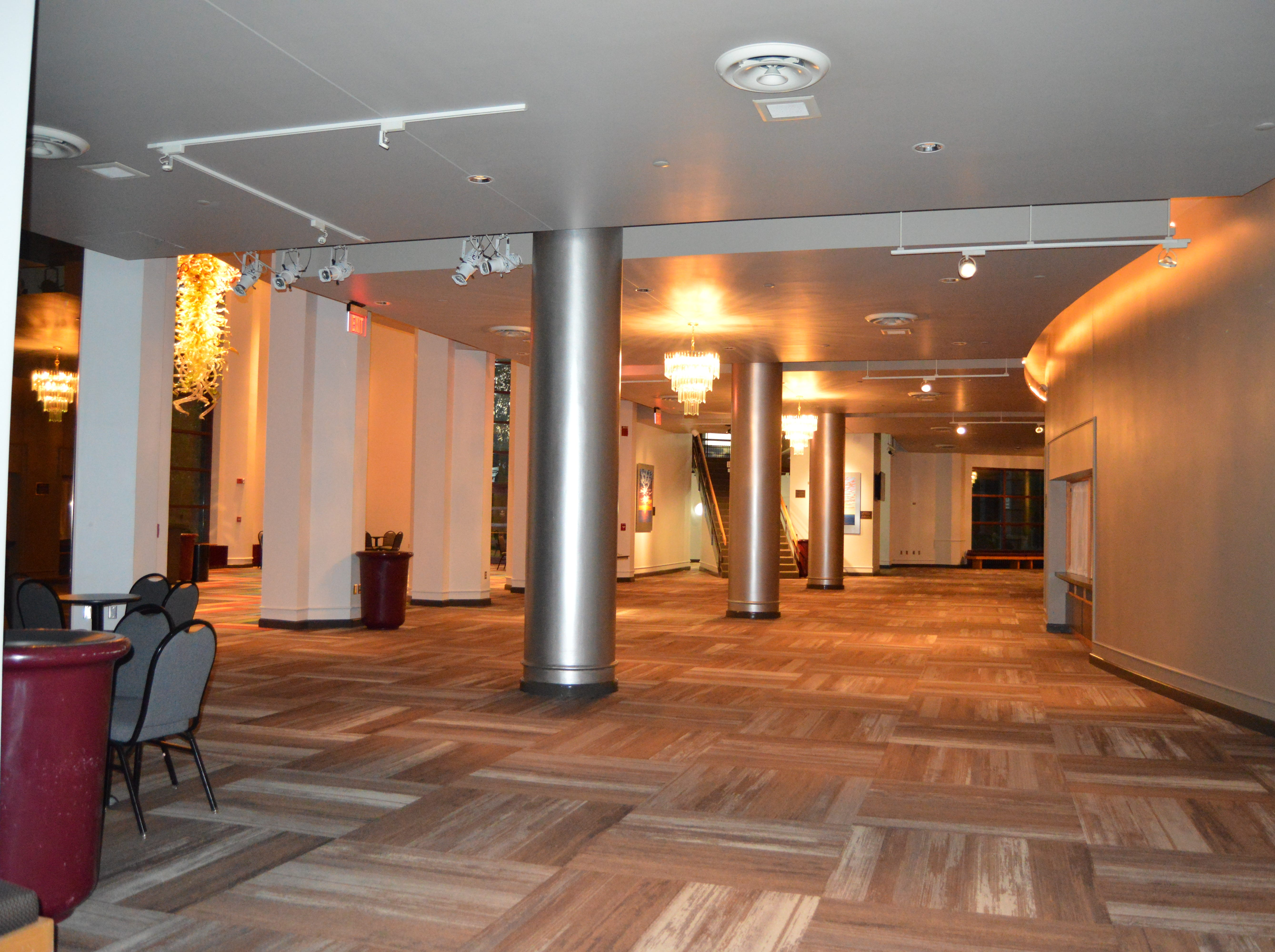 AFTER: The Weidner Center lobby was remodeled in time for the 25th Anniversary Season Concert on Sept. 22.