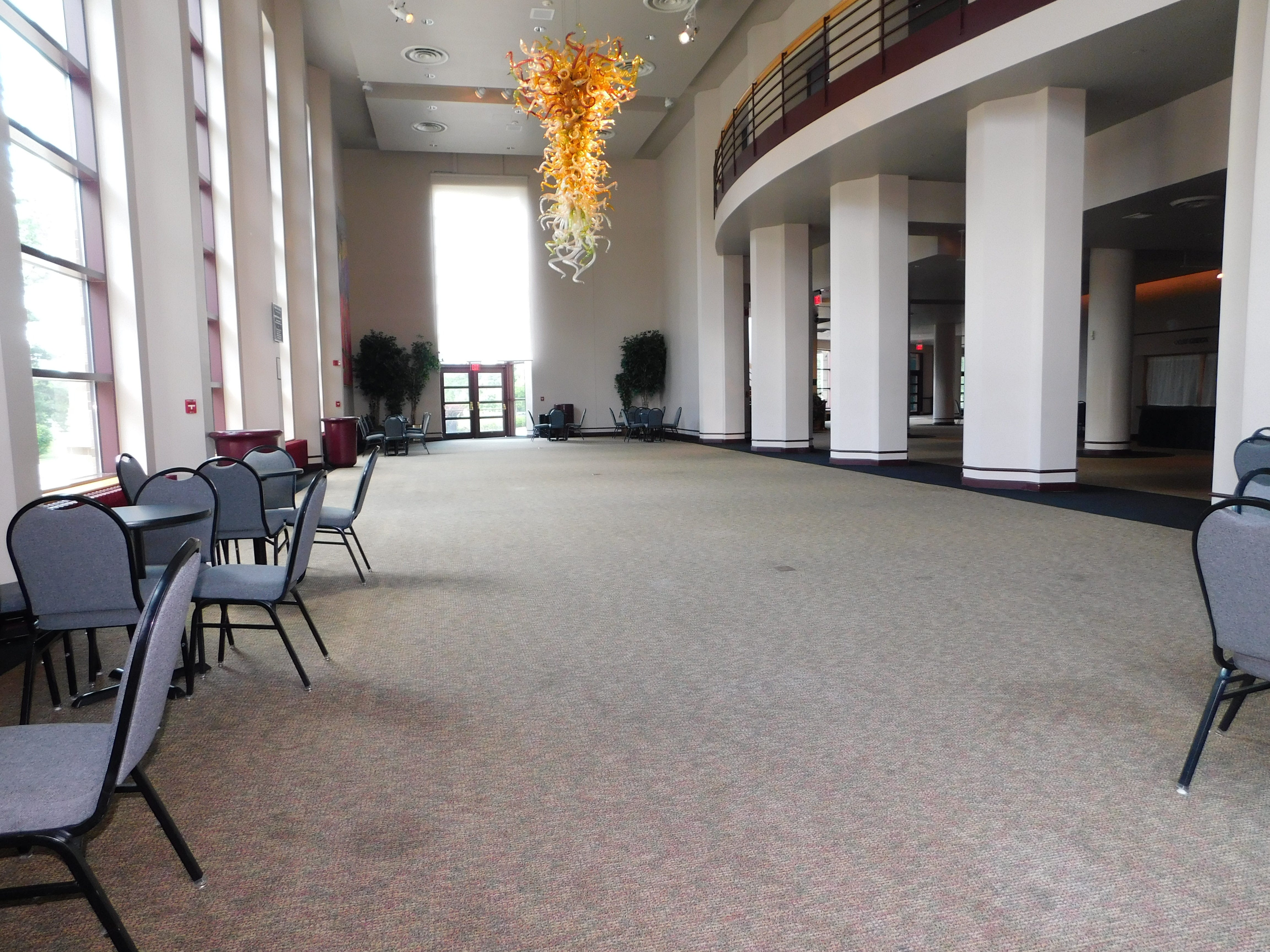 BEFORE: The Weidner Center lobby was remodeled in time for the 25th Anniversary Season Concert on Sept. 22.