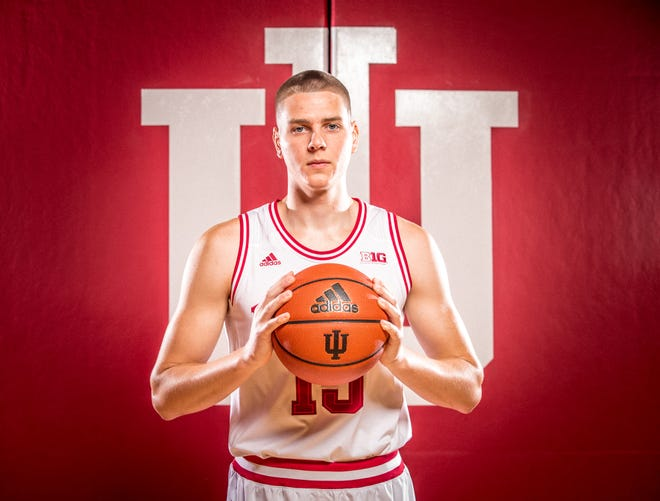 Zach McRoberts is photographed during Indiana University Media Day at Simon Skjodt Assembly Hall on Wednesday, Sept. 26, 2018.