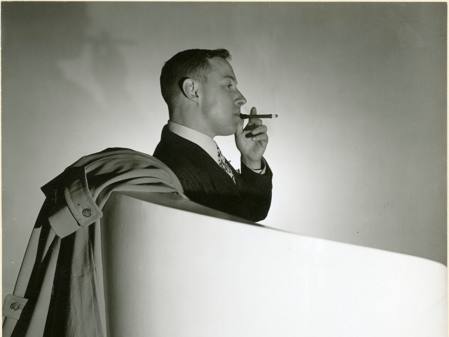"George Platt Lynes (American, 1907–1955), Tennessee Williams, 1944, gelatin silver print, 7-3/8 × 9 in.  ""Sensual / Sexual / Social:  The Photography of George Platt Lynes"" exhibit will be at Newfields, Sept. 30, 2018 through Feb. 24, 2019.  Photo is from the Collections of the Kinsey Institute, Indiana University.  © Estate of George Platt Lynes."