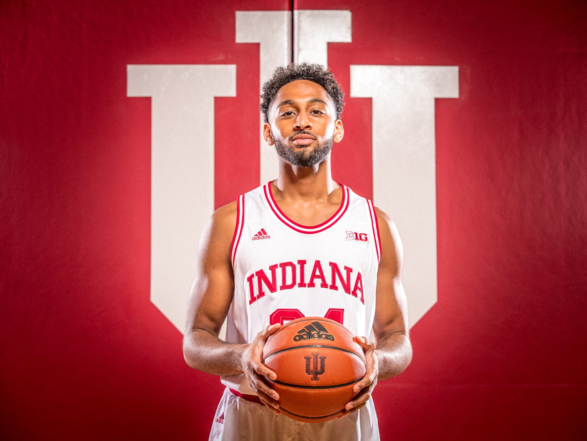 Vijay Blackmon is photographed during Indiana University Media Day at Simon Skjodt Assembly Hall on Wednesday, Sept. 26, 2018.