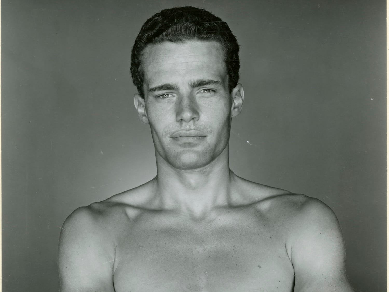 "George Platt Lynes (American, 1907–1955), Name Withheld, 1954, gelatin silver print, 7–1/2 × 9 in.  ""Sensual / Sexual / Social:  The Photography of George Platt Lynes"" exhibit will be at Newfields, Sept. 30, 2018 through Feb. 24, 2019.  Photo is from the Collections of the Kinsey Institute, Indiana University.  © Estate of George Platt Lynes."