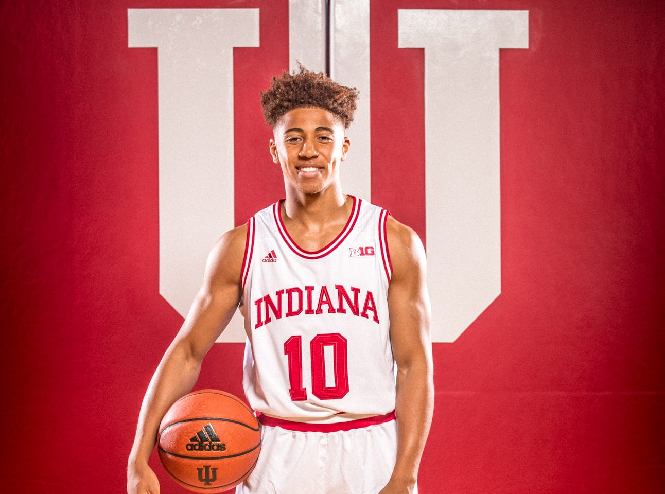 Rob Phinisee is photographed during Indiana University Media Day at Simon Skjodt Assembly Hall on Wednesday, Sept. 26, 2018.