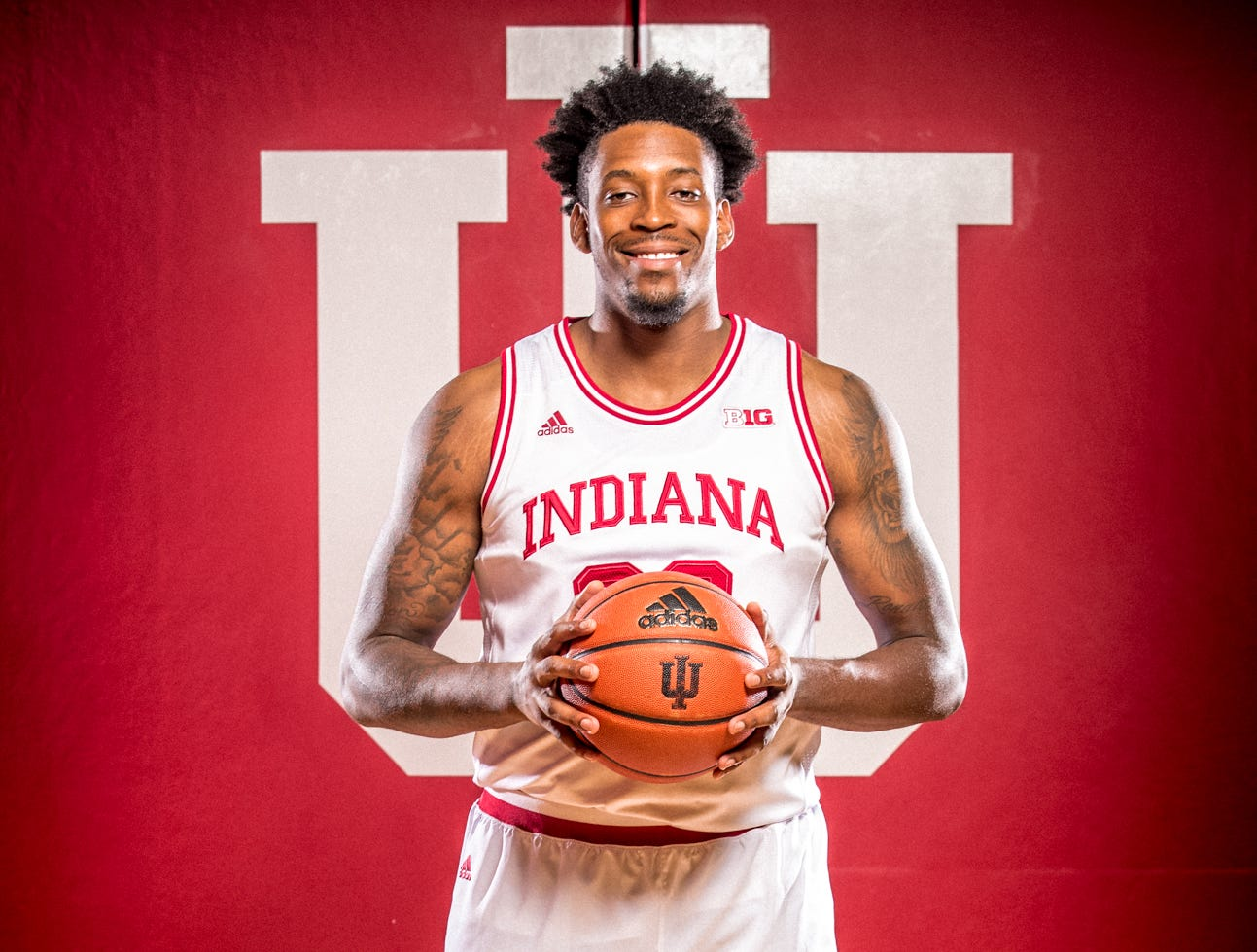 Jerome Hunter is photographed during Indiana University Media Day at Simon Skjodt Assembly Hall on Wednesday, Sept. 26, 2018.