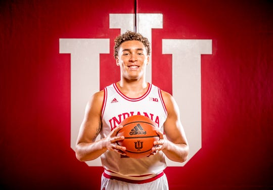 Race Thompson is photographed during Indiana University Media Day at Simon Skjodt Assembly Hall on Wednesday, Sept. 26, 2018.