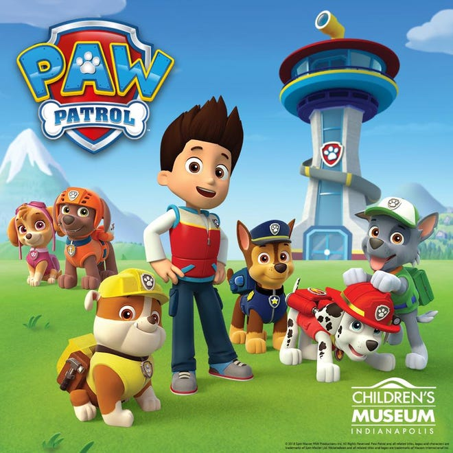 A new PAW Patrol exhibit will bring the popular Nick Jr. show to Indianapolis in February.
