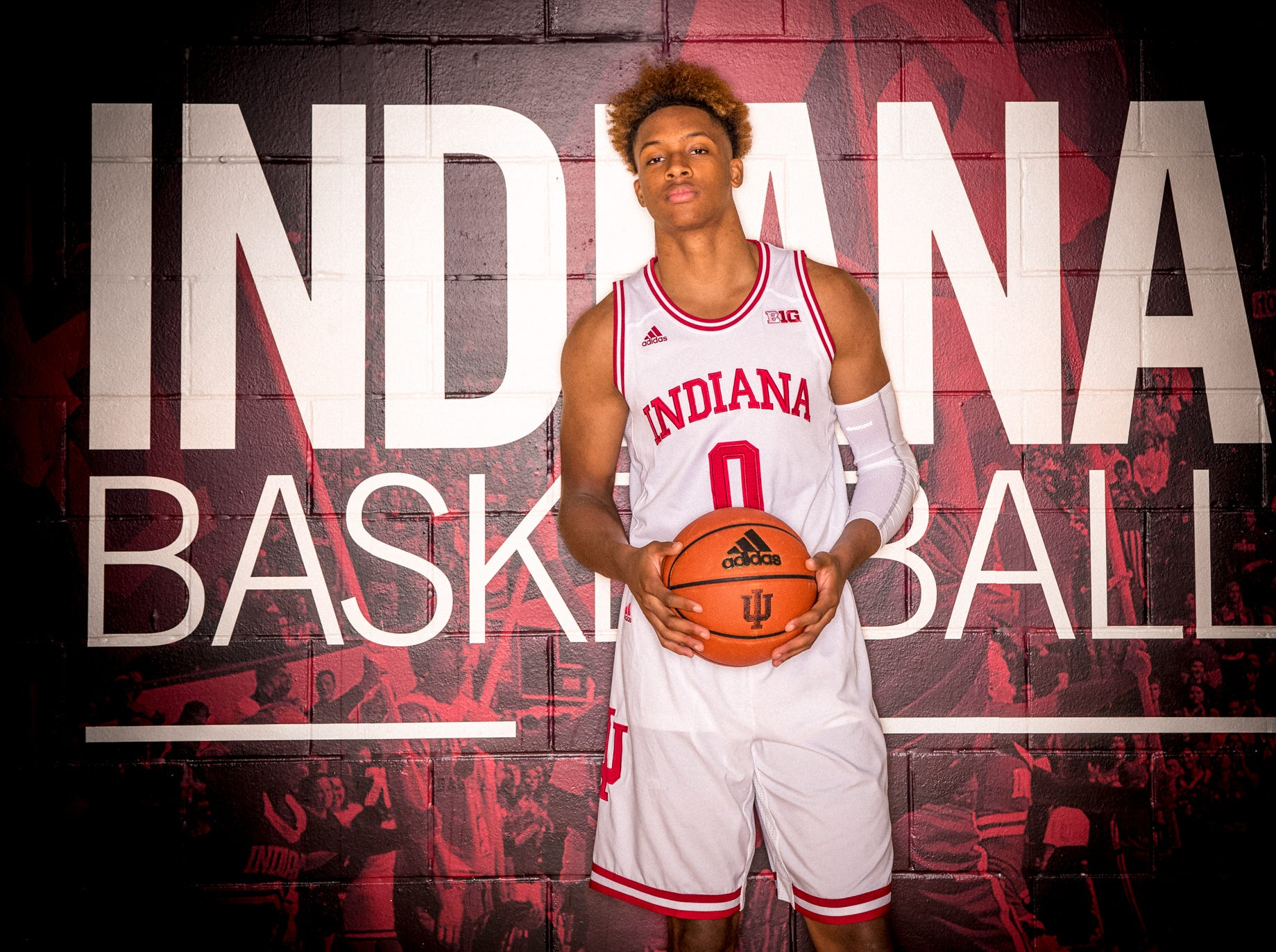 Romeo Langford is photographed during Indiana University Media Day at Simon Skjodt Assembly Hall on Wednesday, Sept. 26, 2018.