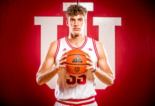 Evan Fitzner is photographed during Indiana University Media Day at Simon Skjodt Assembly Hall on Wednesday, Sept. 26, 2018.