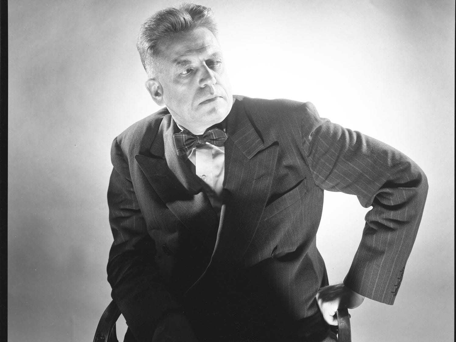 "George Platt Lynes (American, 1907–1955), Portrait of Alfred Kinsey, 1950, gelatin silver print, 7 × 9 in.  ""Sensual / Sexual / Social:  The Photography of George Platt Lynes"" exhibit will be at Newfields, Sept. 30, 2018 through Feb. 24, 2019.  Photo is from the Collections of the Kinsey Institute, Indiana University.  © Estate of George Platt Lynes."