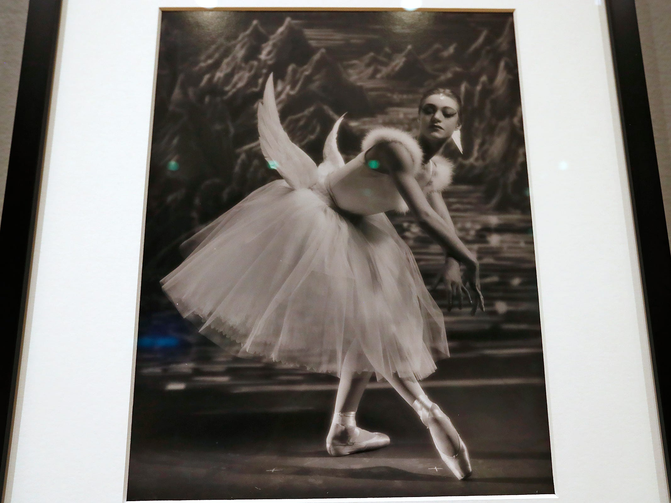 This 1951 gelatin silver print, Patricia Wilde portrait by George Platt Lynes, from the Collections of the Kinsey Institute, Indiana University, is seen at the George Platt Lynes exhibit at Newfields, Wednesday, Sept. 26, 2018.  Lynes gained fame as a commercial and ballet photogrqapher in the 1930s and 1940s, but he wanted to be known for the male nudes he captured of the male ballet dancers and others.  The exhibit runs Sept. 30, 2018 through Feb. 24, 2019.