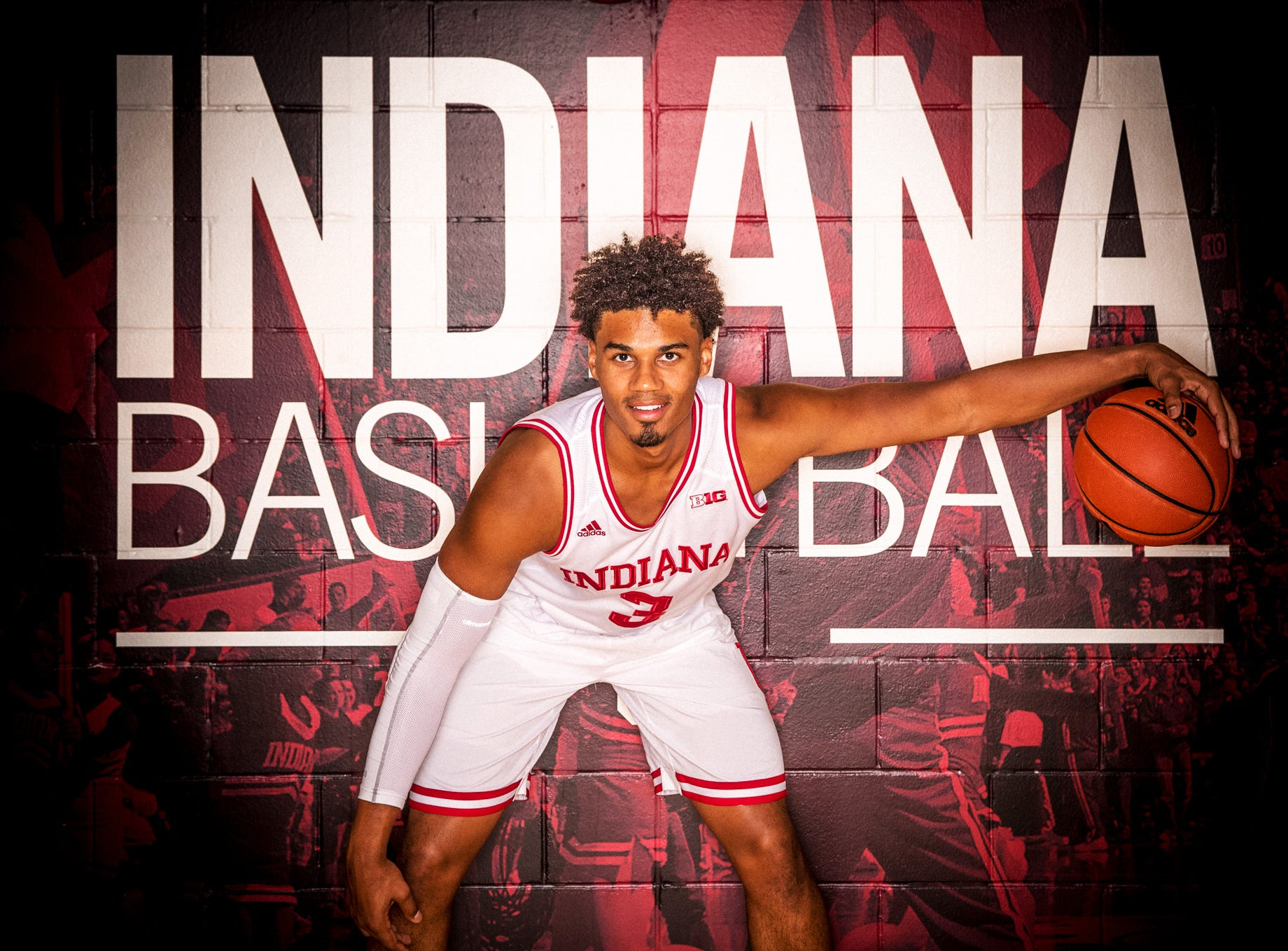 Justin Smith  is photographed during Indiana University Media Day at Simon Skjodt Assembly Hall on Wednesday, Sept. 26, 2018.