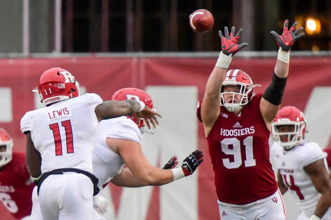 Will Jacob Robinson (91) suit up for the Hoosiers against Rutgers on Saturday.