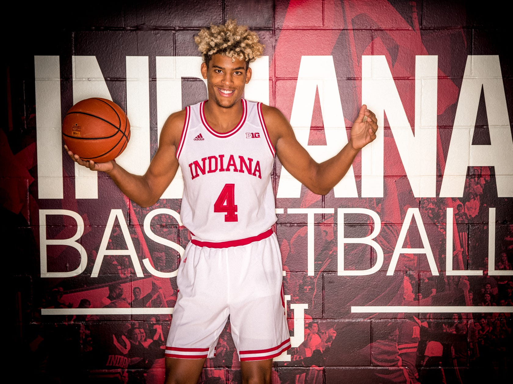 Jake Forrester is photographed during Indiana University Media Day at Simon Skjodt Assembly Hall on Wednesday, Sept. 26, 2018.