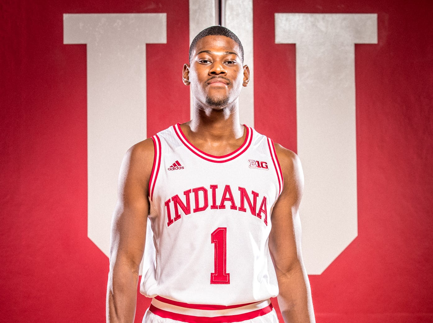 Aljami Durham is photographed during Indiana University Media Day at Simon Skjodt Assembly Hall on Wednesday, Sept. 26, 2018.