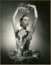 "George Platt Lynes (American, 1907–1955), Maria Tallchief in Firebird, 1949, gelatin silver print, 10-1/2 × 13-1/4 in. ""Sensual / Sexual / Social:  The Photography of George Platt Lynes"" exhibit will be at Newfields, Sept. 30, 2018 through Feb. 24, 2019.  Photo is from the Collections of the Kinsey Institute, Indiana University.  © Estate of George Platt Lynes."
