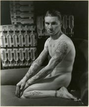 "George Platt Lynes (American, 1907–1955), Name Withheld, 1934, gelatin silver print, 7-1/2 × 9 in.  ""Sensual / Sexual / Social:  The Photography of George Platt Lynes"" exhibit will be at Newfields, Sept. 30, 2018 through Feb. 24, 2019.  Photo is from the Collections of the Kinsey Institute, Indiana University.  © Estate of George Platt Lynes."
