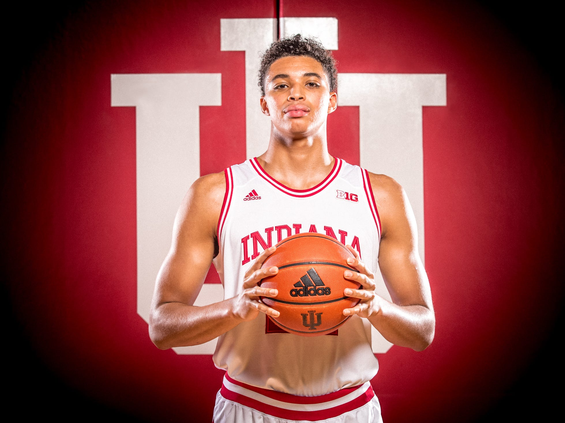 Clifton Moore is photographed during Indiana University Media Day at Simon Skjodt Assembly Hall on Wednesday, Sept. 26, 2018.