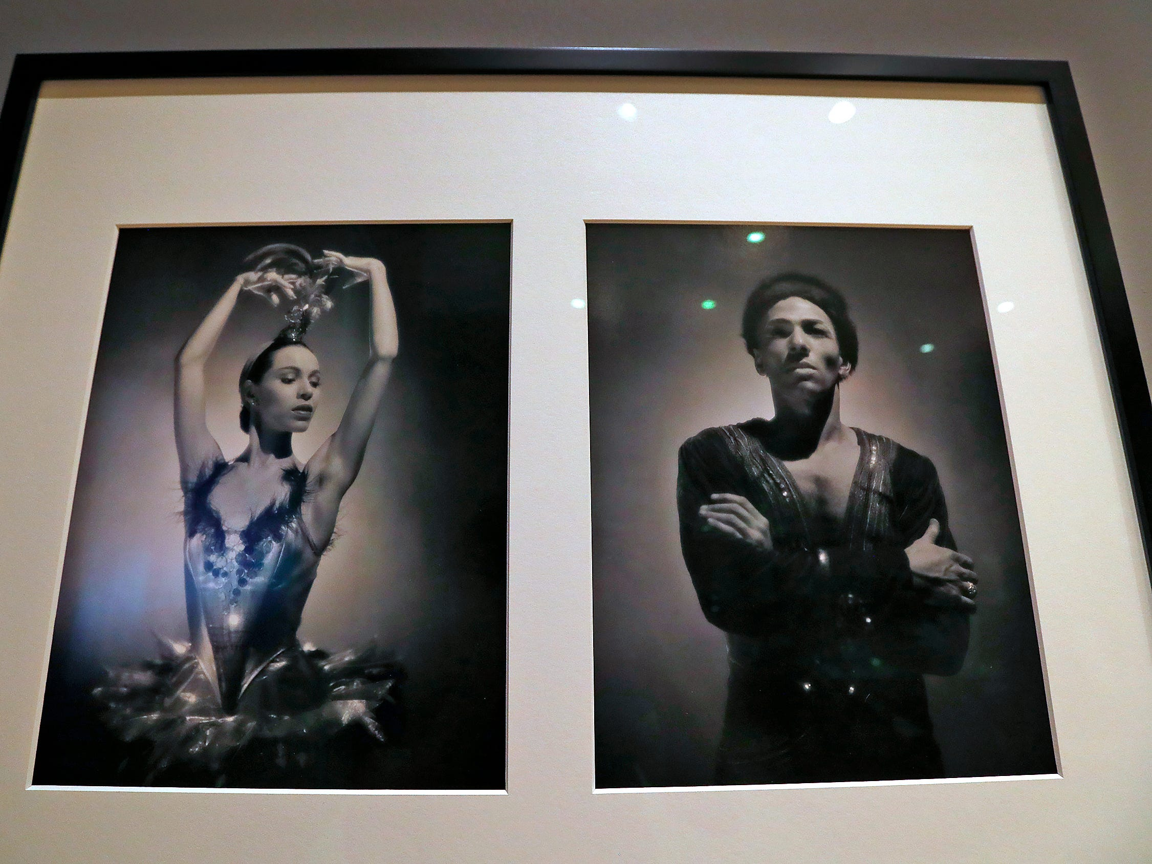 oThese 1949 George Platt Lynes portraits of Maria Tallchief and Francisco Moncion of the ballet Firebird, from the Collections of the Kinsey Institute, Indiana University, are seen at the George Platt Lynes exhibit at Newfields, Wednesday, Sept. 26, 2018.  Lynes gained fame as a commercial and ballet photogrqapher in the 1930s and 1940s, but he wanted to be known for the male nudes he captured of the male ballet dancers and others.  The exhibit runs Sept. 30, 2018 through Feb. 24, 2019.