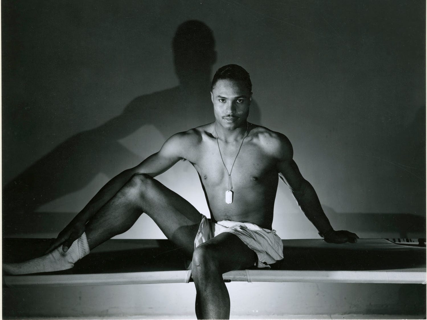 "George Platt Lynes (American, 1907–1955), Name Withheld, 1943, gelatin silver print, 7-1/2 × 9 in.  ""Sensual / Sexual / Social:  The Photography of George Platt Lynes"" exhibit will be at Newfields, Sept. 30, 2018 through Feb. 24, 2019.  Photo is from the Collections of the Kinsey Institute, Indiana University.  © Estate of George Platt Lynes."