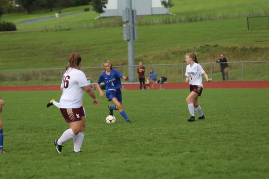 Lansing and Whitney Point played against each other on Sept. 26.