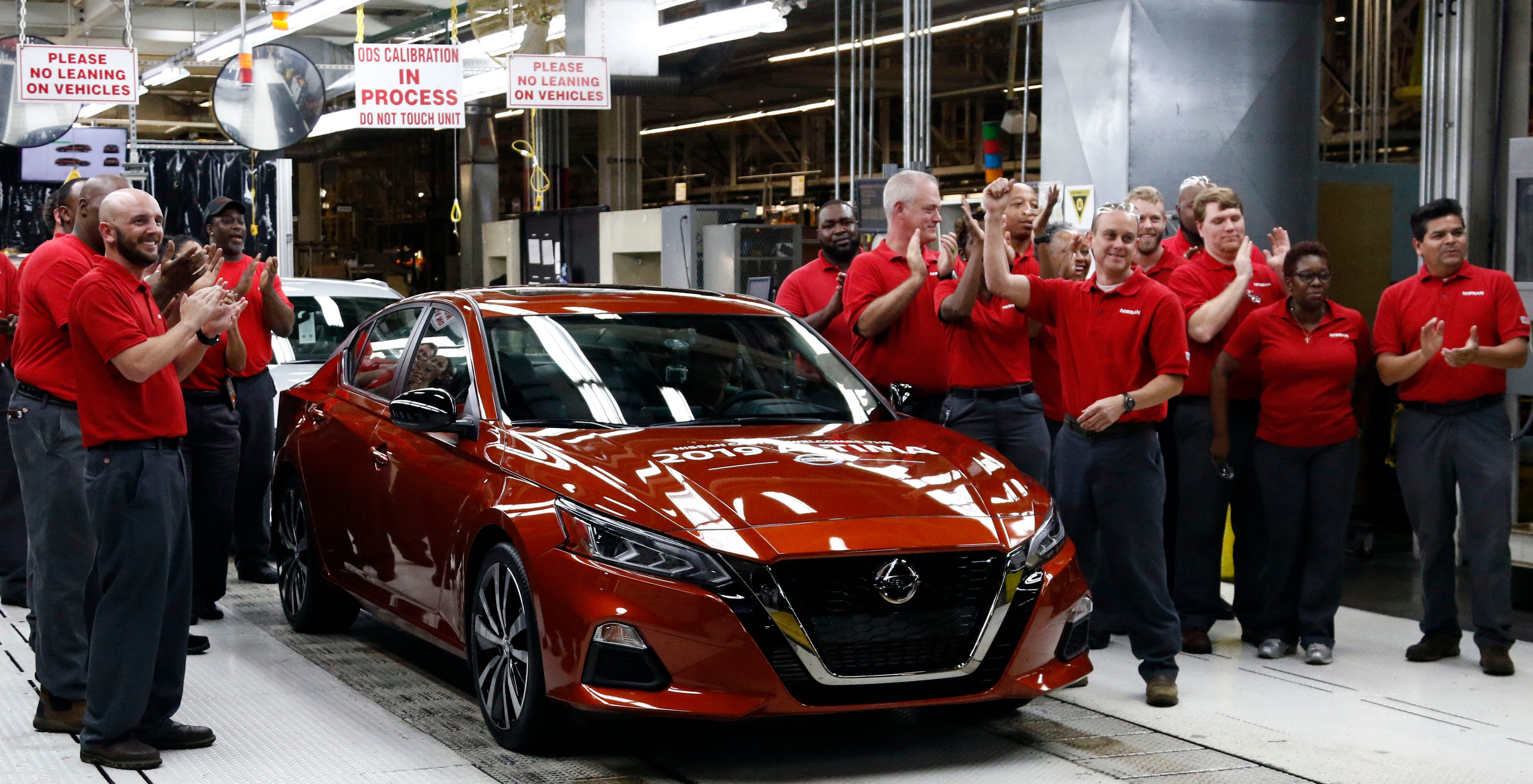 nissan\u0027s canton plant begins production of new altima