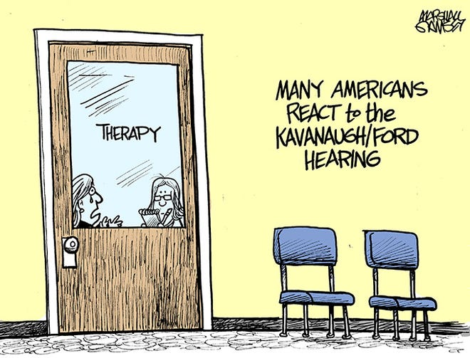 Watching the Kavanaugh/Ford hearing brought many people's pain to the surface.