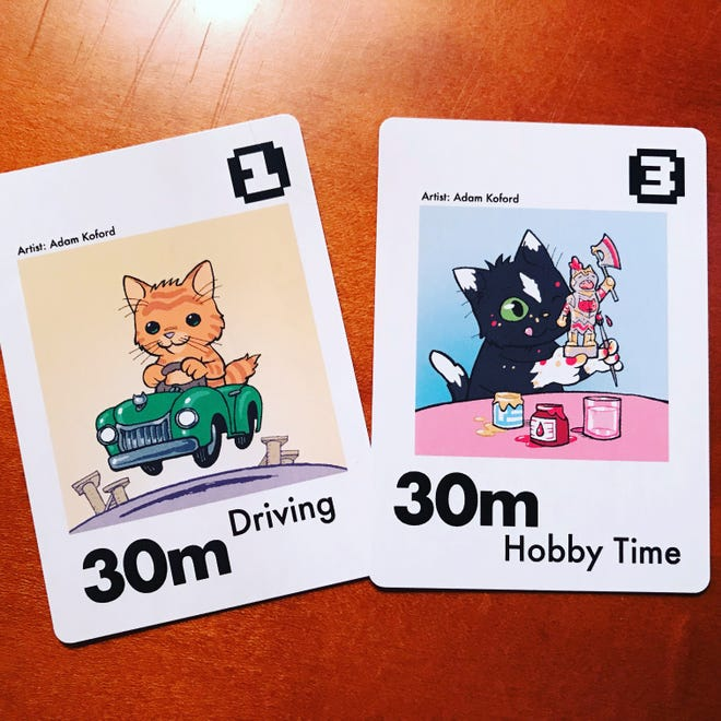 Cards from Kitten Stuff Done, a new project by Knoxville's Victor Agreda Jr., aim to give people a cute way to organize their time and support local animal care facilities.
