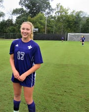 McKenzie Burkhalter got the ball rolling for the girls' soccer team by lobbying administration and recruiting girls for the team.