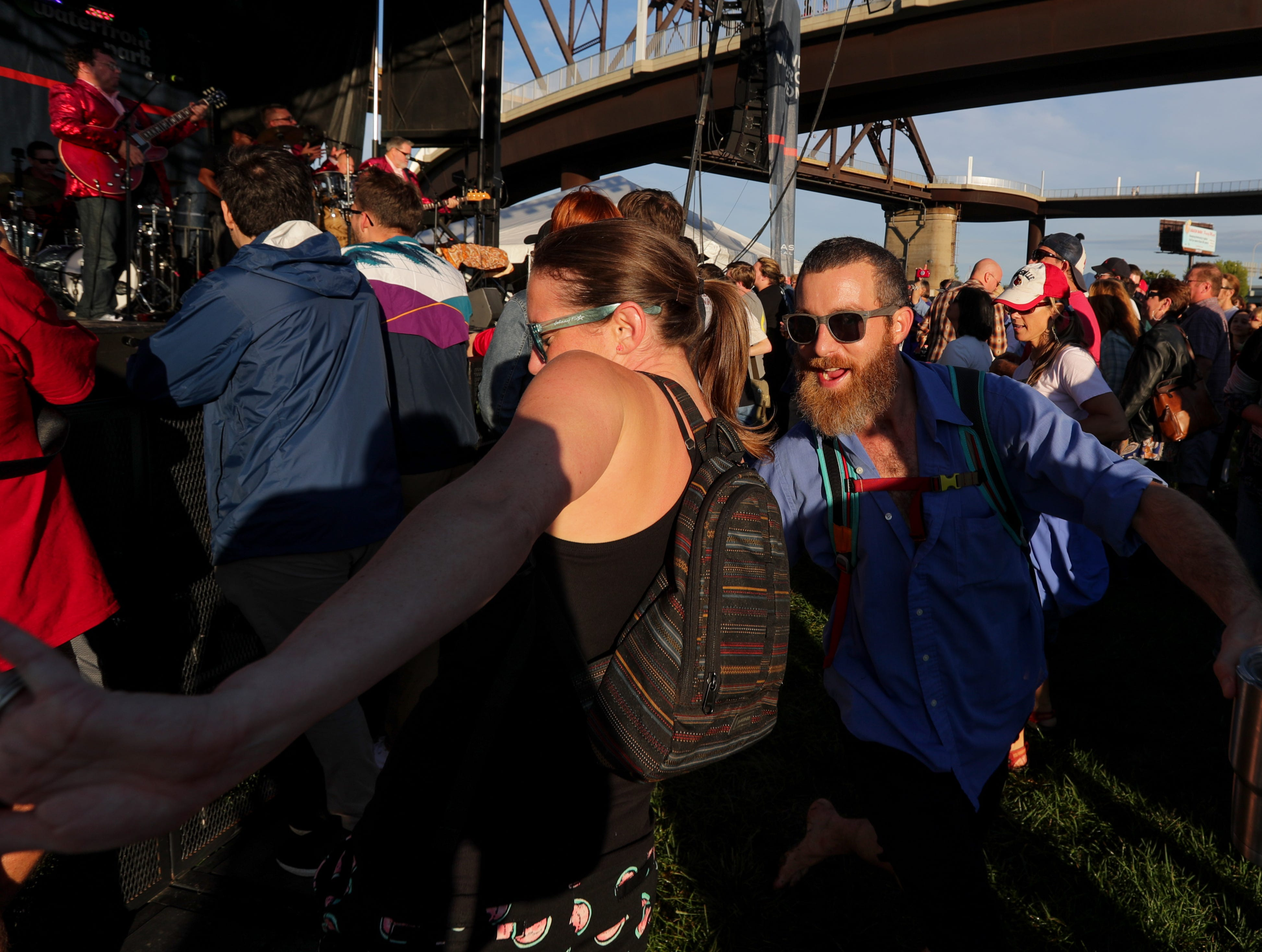Plenty of dancing at the last Waterfront Park Wednesday of the season. 