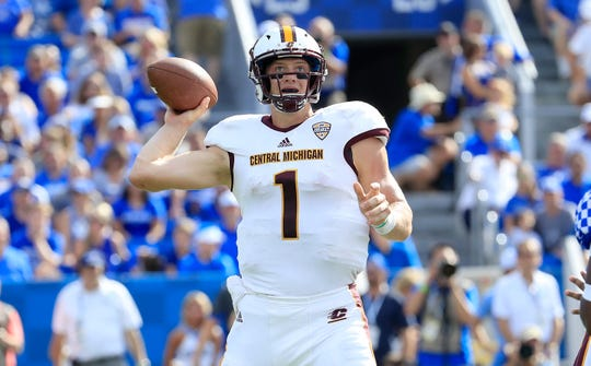 Lansing Catholic alum Tony Poljan started Central Michigan's first three games this season, but will serve as CMU's backup QB and perhaps as receiver or tight end going forward.