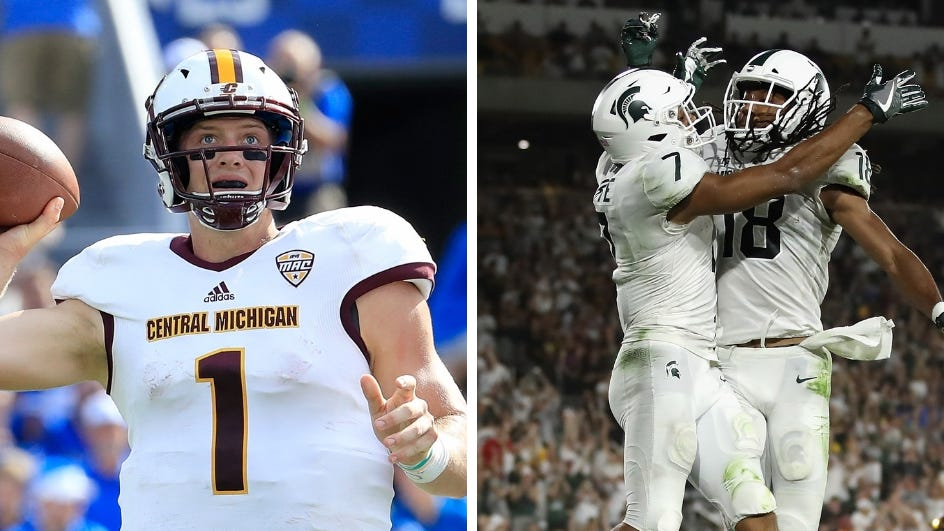 Michigan State Vs Central Michigan Football How To Watch Tv Stream