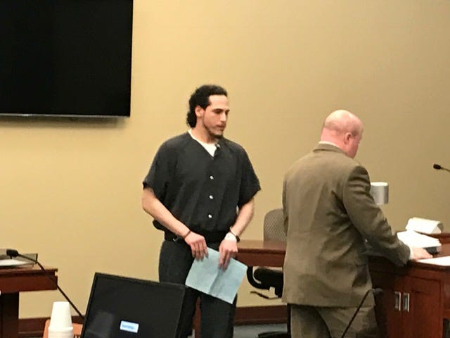 Vincent Ovalle walks to the podium during his sentencing hearing on Thursday, Sept. 27, 2018.
