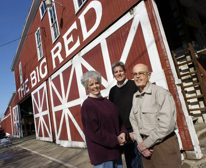 Pictured in 2008 from left, Christi Dutcher and Mike and Bob Fulton, at Fulton Lumber Company, 316 N. Washington St. in Charlotte. This business will close at the end  of 2018, after 110 years.  Photo Gallery