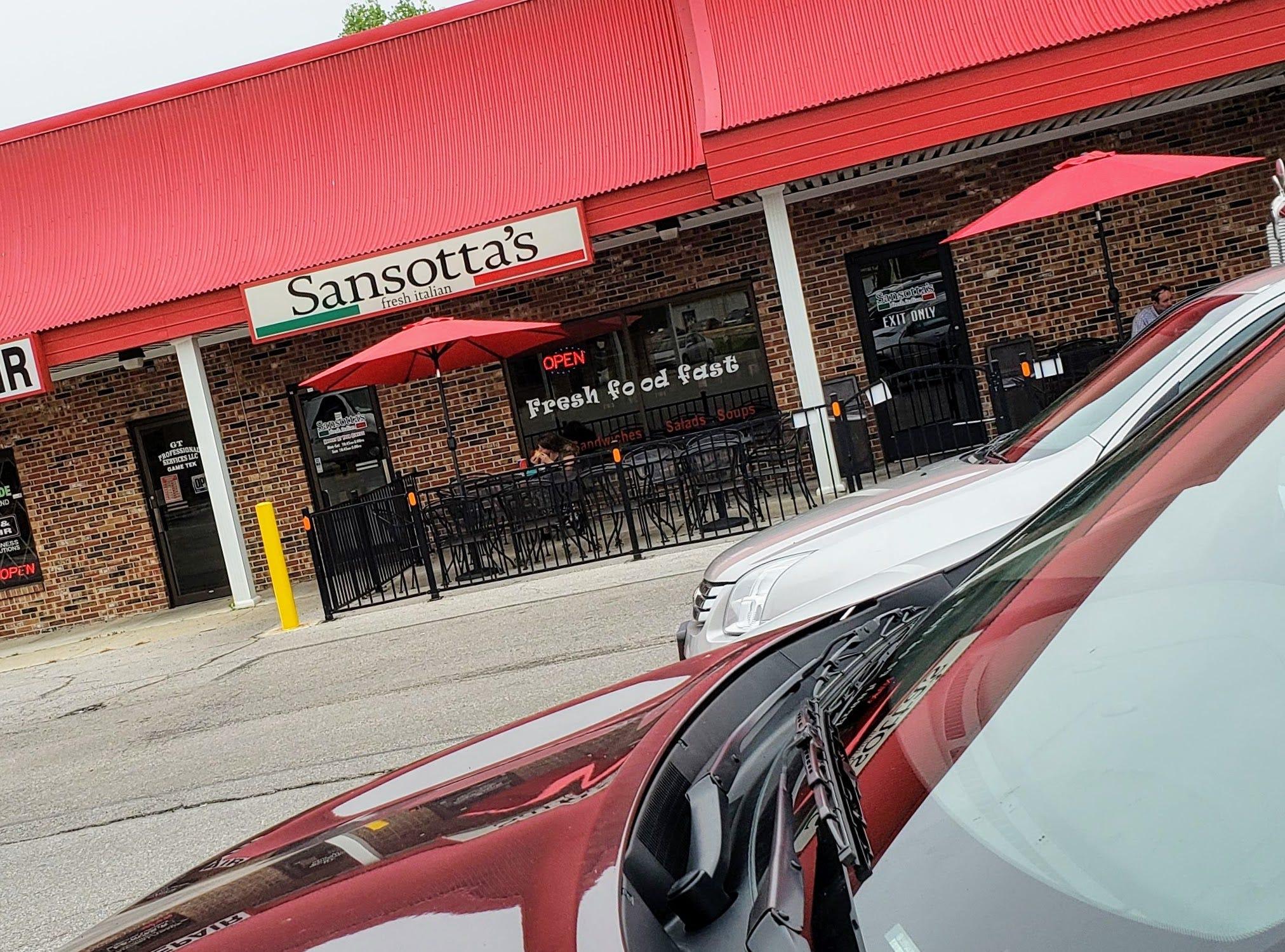 Sansotta's storefront.