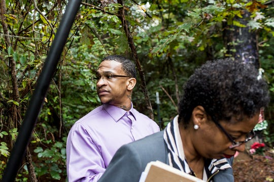 Quinton Tellis is seen while on a field trip to different scenes around Panola County during the third day of his retrial Sept. 27, 2018. Tellis is charged in the burning death of 19-year-old Jessica Chambers. Tellis has pleaded not guilty.