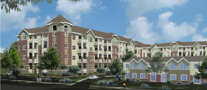 Wauwatosa is considering an affordable housing development on River Parkway. The picture shown is a rendering.