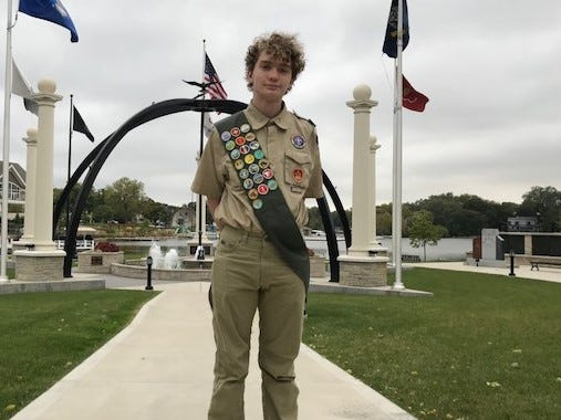 Hans Schiefelbein, an Oconomowoc High School junior, has organized two different events to honor veterans as part of an Eagle Scout project.