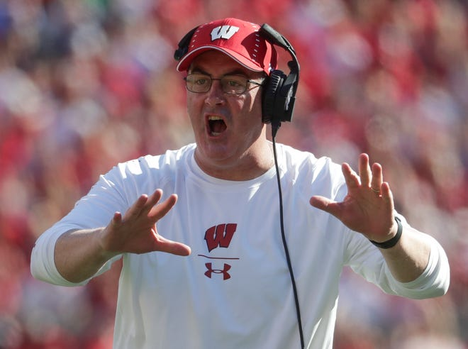Wisconsin coach Paul Chryst isn't happy with how many penalties his team has piled up through four games this season.