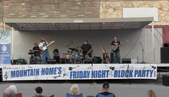 Kansas City-based rock band Ozark performs onstage July 6, 2018 at Mountain Home's Friday Night Block Party. The summer concert series announced its 2019 lineup Monday.