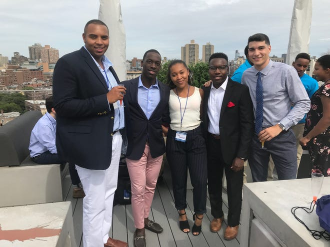The founders of YED Corp and executive board: Alex Motley, Brandon Moorer, Paige Garrison, Jordan Williams and Leo Moronta, at the first summit in New York City.