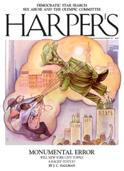 Harper's magazine cover story on J. Marion Sims statue in New York City