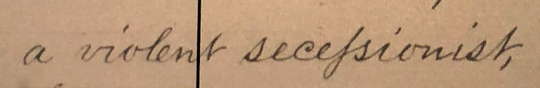 Letter mentioning 'violent secessionist' J. Marion Sims