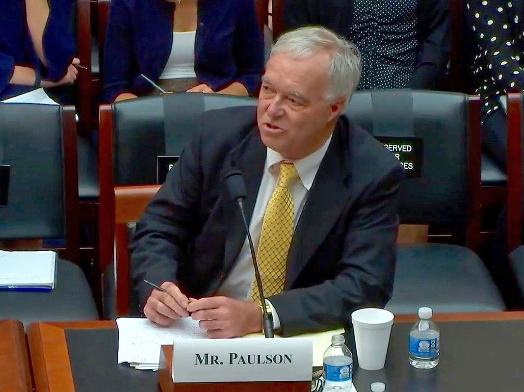 In this video screen capture, Dean Ken Paulson of MTSU's College of Media and Entertainment testifies Wednesday, Sept. 26, before the Committee on Education and the Workforce of the U.S. House of Representatives in Washington, D.C.