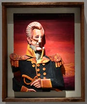 "Artwork by Red Grooms, ""General Andrew Jackson (After Ralph E. W. Earl), 2003,"" is on display at the new home of the Tennessee State Museum."